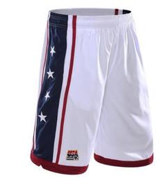Wholesale Usa Basketball Shorts - USA Basketball Shorts Men Polyester Mesh Sport Running Short Pants Homme Drawstring Gym Joggers Bermuda Surf Pantaloncini Basket