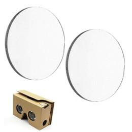 Wholesale Lens 3d Blue - Wholesale- 20pcs 25*45MM BiConvex Lens for Google Cardboard 3D VR Glasses Optical Glass Dollar price Interesting Gifts