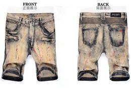 Wholesale Yellow Jeans For Boys - Classic Shorts Men Jeans Fashion Designer Brand Men's Skinny Short Denim Jeans Robin Shorts for Mens Cotton Jean Boy size 28-42