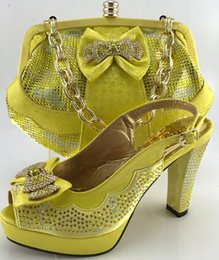 Wholesale Elegent Shoes - Nigeria Style Elegent Shoes And Bag Set Summer Style Ladies High Heels Shoes And Bag Set For Party Size 38-42 ME6608