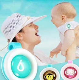 Wholesale Baby Badge - New Mosquito Repellent Badge Button Buckle Cartoon Cute Anti-Mosquito Insect Bug Repellent Clip Buckle for Baby Mosquito Repellent Button