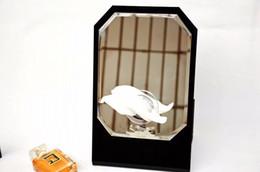 Wholesale Desktop Cosmetic Mirrors - Classic Acrylic Makeup Box Cosmetic Holder Desktop Mirror For Wedding Gift