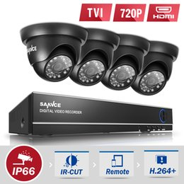 Wholesale Home Security Surveillance System - SANNCE 8CH 720P 4 in 1 TVI DVR CCTV Home Surveillance Security Camera System