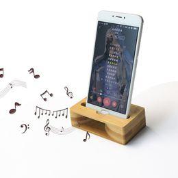 Canada Véritable support de bois de bambou naturel pour téléphone portable Support de téléphone de bambou fait à la main pour accessrios de téléphone portable haut-parleur en bois Offre