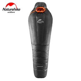 Wholesale Duck Down Mummy Bag - Wholesale- NatureHike Ultralight Camping Sleeping Bag Adult -15~-20 Degree Munmmy Warm Winter Duck Down Outdoor Sports Hiking Black