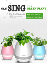 Wholesale Singing Can - TOKQI Smart Bluetooth Music bluetooth speakers With Light Touch Plant Can Sing Several songs, Stress Toy For Anxiety Stress Relief For Child