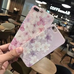 Wholesale Korea Painting - For iphone7 8 plus cell phone with iphone6s Embossed painted silicone new lanyard fresh flowers Japan and South Korea mobile phone cover