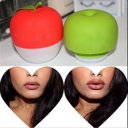 Wholesale Lip Suction - Apple Shape Lip Pump Women Plumper Enlarger Bigger Double Single Lobed Lip Plumper Lips Suction Tools OOA2229
