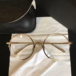 Wholesale Titanium Glasses Men - Linda LFL 218 Luxury Japan Glasses Fashion Women Brand Designer Round Retro Style Titanium Full Frame High Quality Free Come With Case