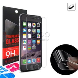 Wholesale Gorilla Glass Screen - Corning Gorilla Glass Premium Tempered Glass Screen Protector Ultrathin 0.15mm Flexible Film For iphone 6 6s 7 Plus 5 5s 5C 5G