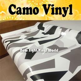 camuflagem Desconto Ártico Dazzle Camo Vinyl Wrap Arctic Snow Camuflagem Vinyl Film Air Bubble Livre Para Veículo Wraps