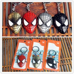 Wholesale Super Hero Spider man The Amazing Spiderman Keychain Metal Key Chain Alloy Key Rings Key Holders Size cm