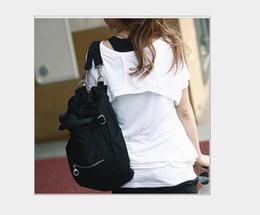 Wholesale Korean Cross Body Bags - Women's Canvas Shoulder Bag new Korean version casual fashion bag female hand carry shoulder back multi-purpose travel bag