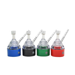 Wholesale Electric Hookahs - Wholesale Electric Glass Smoking Pipe Shisha Hookah Mouth Tips Cleaner Tobacco Smoking Pipes Snuff Snorter Vaporizer