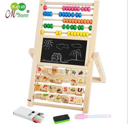 Wholesale Magnetic Beads Toy - Children Wood multi - purpose magnetic drawing board Calculation Wood Abacus Early Educational Tool Multi-function Beads Computing Frame