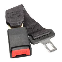 2019 extensiones del cinturón de seguridad del coche 360mm Universal cinturón de seguridad del vehículo cinturón de seguridad del extensor de extensión del vehículo hebilla de seguridad negro car-styling accesorios venta caliente rebajas extensiones del cinturón de seguridad del coche