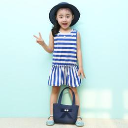 Wholesale Plastic Bag Yarn - Kids Hat +Shoulder Bag Weave Handbag Suit Photo Props Hollow Woven Straw Cap Baby Sun Hats for Children 2-8Y Sunshade Beach Caps