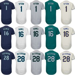 Wholesale Womens 16 - 2017 Mens Womens Kids Seattle 1 Jarrod Dyson 16 Ben Gamel 28 D.J. Peterson Home Away Alternate Cheap Wholesale Baseball Jerseys