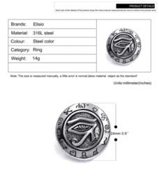 Wholesale Egyptian Rings - Mens Boys Egyptian Eye of Horus Ra Udjat Talisman Stainless Steel Stainless Steel Ring wholesale