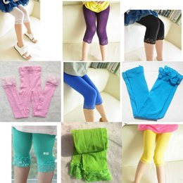 Wholesale Toddler Thin Socks - Baby Girls Lace Candy Velvet Legging Toddler Tights Thin Socks Summer Kids Tight Pants Solid Trousers