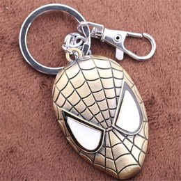 Wholesale Spider Man Mask Keychains Alloy Bronze Key Rings keychain Jewelry For Gift Hot Sale High Quality