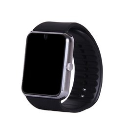 Wholesale Wrist Clocks - Smart Watch GT08 Clock blackberry bluetooth Sync Notifier Support Sim Card Bluetooth Connectivity for Apple iphone Android Phone Smartwatch