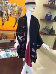 Wholesale Digital Silk - (High quality custom) Digital printing silk cashmere scarf double skull scarf scarf pattern lipstick swallow, 70*180