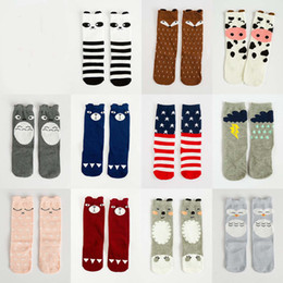 Wholesale Cute Toddler Baby Knee Length Cartoon Socks Fox Panda Socks Little girls Sweet Socks pairs for years old kids