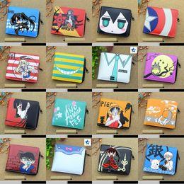 Wholesale Rock Korean Girl - Anime Naruto, Hell Girl, Assassination Classroom, Black Rock Shooter, Date A Live etc Zero Change Wallet Student Short Coin Purse