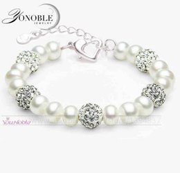 Wholesale Beautiful Culture - Beautiful real freshwater pearl bracelet 9-10mm women,wedding cultured natural pearl bracelet charms 925 silver jewlery vintage gift