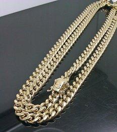 "Wholesale Yellow Gold Chain 22 - 10K Yellow Gold Men's 6mm Miami Cuban Chain With Box Lock 22"" Long"