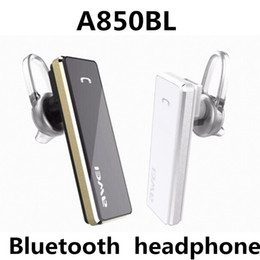 Wholesale Original Wireless Headphones - Original Awei A850BL Bluetooth Wireless Earphone Headset Stereo Headphones Sports In-ear HandsFree for iphone Samsung Smartphone Universal