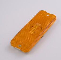 rectangle led reflectors prices - Free Shipping 12V 4 pieces 4'' amber yellow LED Rectangle Reflector Tail Brake Stop Marker Light Truck Trailer Bus lorry Lamp
