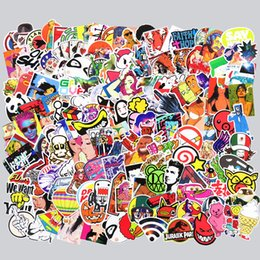 Wholesale Funny Phones - 500 Pcs Sticker for Laptop Skateboard Luggage Waterpoof Creative Funny Decals Fridge Phone Car Styling Home Toy Doodle Stickers