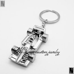 Wholesale Brand Pillars - Cute Metal Brand Racing Car Key Ring Keyfob Keychain Creative Gift Lovely Keyring Key_024