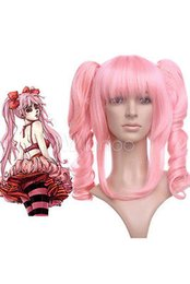 Wholesale Code Geass Free - Free Shipping Heat Resistant >>Fashion Lovely Nylon Code Geass Anya Long Pink Curly Cosplay Wig