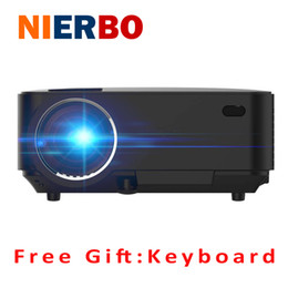 Wholesale Cheap Video Player - Wholesale-LCD Projector Home Theater Android4.4 Wireless Beamer Bluetooth4.0 WiFi 1500 LM 1080P Full HD Video Movies Media Player Cheap