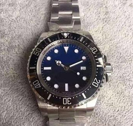 Wholesale Sapphire Sea Crystal - Factory Supplier NEW DEEP 44mm automatic 2836 men watch V6S noob 116660 CERAMIC 12800ft 3900m sapphire crystal sea dive bezel V7