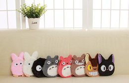 Wholesale Totoro Hand Bag - Wholesale- HOT NEW , Gift Coin BAG , 5Designs OF TOTORO 10CM Hand Coin BAG Purse Wallet Pouch Handbag ; Pocket Coin Key Pouch Case BAG