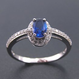 Wholesale Rings Size5 - New fashion jewelry 925 silver australian wholesale jewelry mens blue stone rings Rhodium plating DR0300801R size5 Freeshipping