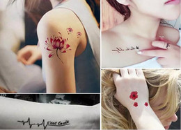 Wholesale temporary foot ankle tattoos - Hot 200 Styles Tattoo Stickers Waterproof Temporary Body Art Tattoo Sticker Fake Tattoos for Women Girl