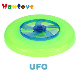 Wholesale Ufo Led Disc - Wholesale-Fly Flash Colorful Spin LED Light Outdoor Toy Flying Saucer Disc Frisbee UFO Kid Outdoor Toys Handmade products Classic Toys UFO