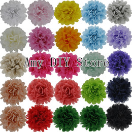 Wholesale Garment Shoes - Free shipping!NEW style alternative chiffon hair flowers WITHOUT clips for shoes clothing hair DIY garment accessories 80pcs lot HH059
