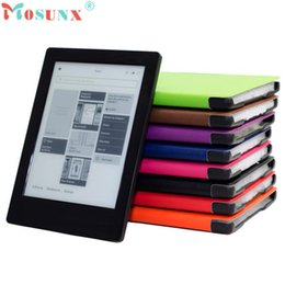 Wholesale Auto Protective Film - Wholesale- Factory price Hot Magnetic Auto Sleep Leather Cover Case For NEW KOBO AURA H2O eReader+HD Screen Protective Film+TOUCH PEN Jan6