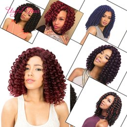 "hair wand curls Coupons - 8"" Jumpy Wand Curls Crochet synthetic Braiding Hair Janet Curly Crochet Hair Braids Jamaican Bounce Twist Braid kinky curly Hair Extensions"