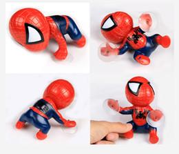 Canada 16 CM action figure Spider Man Jouet Escalade Spiderman Fenêtre Sucker pour Spider-Man Poupée Voiture Maison Décoration Intérieure Pour Enfants supplier climbing spiderman toy Offre