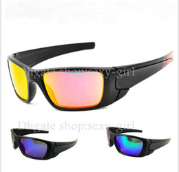 Wholesale Sunglasses Bicycle Goggles Lens - New Fashion men' s women's black frame Bicycle Glass sun glasses fuel cell sunglasses Free Shipping