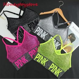 Wholesale Yoga Bra Seamless - Women Fitness Yoga Sports Bra For Running Gym Padded Wire free Shake proof Underwear Push Up Seamless Fitness Top Bras