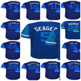 Wholesale Little Kids - 2017-Little League Kenley Jansen Kenta Maeda Logan Forsythe Yasiel Puig Seager Brice Mens Lady Kids Los Angeles Cool Base Jerseys