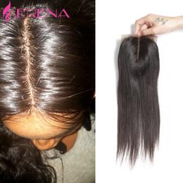 Wholesale Silk Bleach Knot Closure - Peruvian Virgin Hair Silk Base Closure Straight 100% Unprocessed Virgin Hair Silk Top Closure Bleached Knot Human Hair Closure